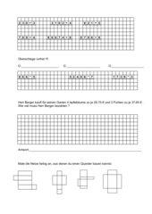 Übungsblatt Geometrie, Maße und Multiplizieren