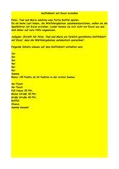 Kniffelblatt in Excel erstellen