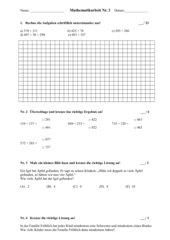 Schriftliche Addition (Mathematikarbeit)