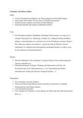 Checkliste: Einen Vortrag halten