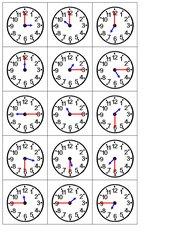 Uhrzeit-Zuordnungsspiel