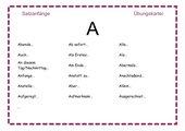 ABC-Satzanfänge