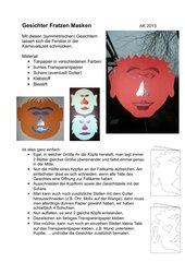 Gesichter - Fratzen - Masken
