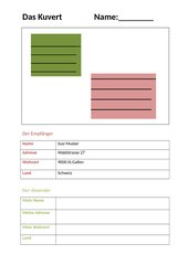 Kuvert/Umschlag: Aufbau