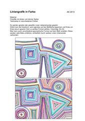 Liniengrafik in Farbe