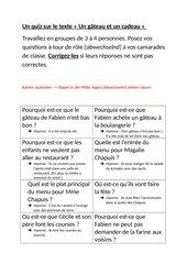 Découvertes 2 neu - Lektion 5 texte - Gruppenquiz mit Fragen zum Text