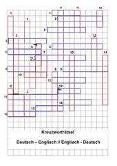 Kreuzworträtsel Englisch-Deutsch/Deutsch-Englisch