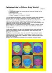 Selbstporträts im Stil von Andy Warhol