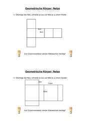 Geometrische Körpernetz (Bastelanleitung