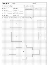 Kurztest zu Umfang und Flächeninhalt des Rechtecks