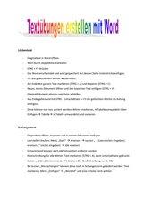 Textübungen (Lücktentext / Wortschlangen) selbst erstellen