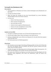 Arbeitsvertrag - Wochenregeln