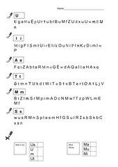 Lernzielkontrolle Buchstabenkenntnis