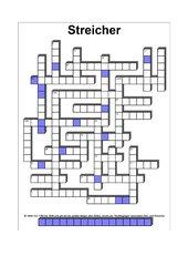 Kreuzworträtsel zu Streichinstrumenten