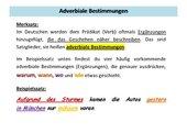 Adverbiale Bestimmungen Lernkarte