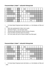 Krabat-Kreuzworträtsel - kulturelle Hintergründe