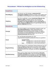Personalwesen - Pflichten des Arbeitgebers