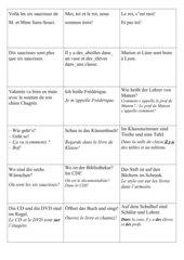 Sprechanlässe Partnerkarten A+1, unité3