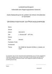 """Die Vielfalt der Sprache Schillers in """"Kabale und Liebe"""""""