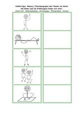 Bildkarten mit Verben (Zuordnungsspiel, Domino) für alle Sprachen