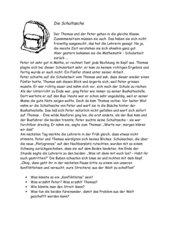 Lesetext - Problemgeschichte - Konfliktlotsen