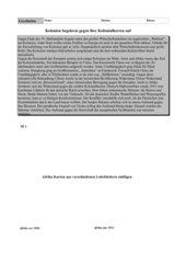 """Arbeitsblatt: """"Die Kolonien begehren auf"""""""