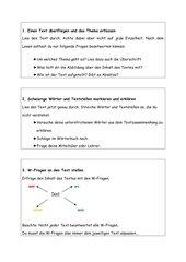 Fünf - Gang - Lesetechnik / Textknacker - Infoblätter