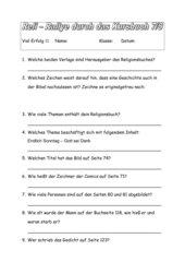 Rallye durch Kursbuch Religion Elementar 7/8