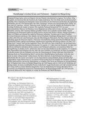 Arbeitsblatt: England im Bürgerkrieg
