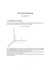 Zusammenfassung Geraden im R^3