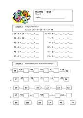 Mathetest Klasse 2