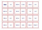Domino Umrechnung l in ml -3 Schwierigkeitsstufen