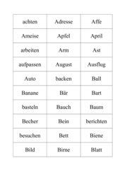 Wörterhäuser zum Erkennen der Wortarten