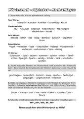 Alphabetisch ordnen - Nachschlagen im Wörterbuch