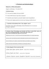 Rechtschreibwerkstatt zu Wörter mit st/sp
