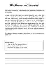 Münchhausen auf Hasenjagd