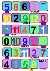 Numbers  -  Board Game