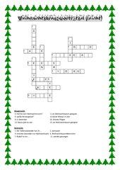 Weihnachtskreuzworträtsel
