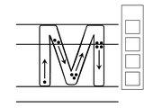 Das M und m in Lineatur üben