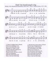 Hark! the herald angels sing - englisches Weihnachtslied