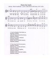 Deck the halls - walisisch-amerikanisches Weihnachtslied