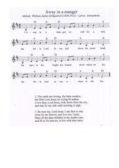 Away in a manger - englisches Weihnachtslied