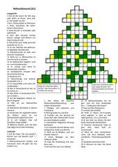 Weihnachtskreuzworträtsel 2013