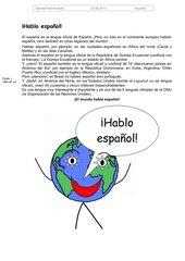 Hablo español: Einführungstext Spanisch als Weltsprache