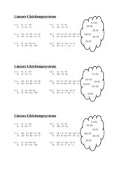 Arbeitsblatt zu Lineare Gleichungssysteme