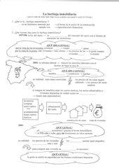 la burbuja inmobiliaria - Arbeitsblatt mit Lösungen
