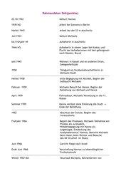 Der Vorleser Rahmendaten