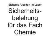 Sicherungsbelehrung Chemie