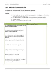 tricky grammar translation exercise