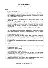 Hilfsblatt für Erstellung eines Referats/Präsentation/Vortrags